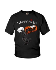 Black cat Happy pills 0712 Youth T-Shirt tile