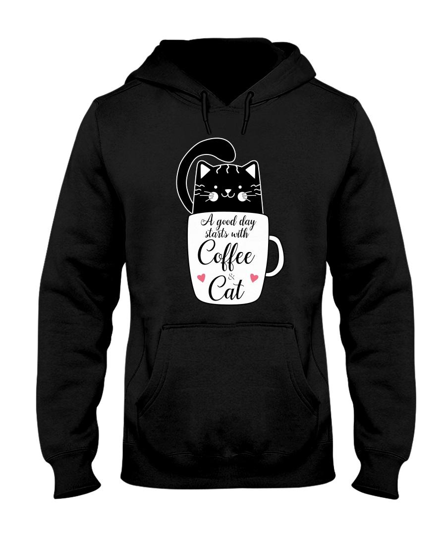 Black cat Coffee 1712 Hooded Sweatshirt
