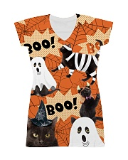 Black Cat Boo  All-over Dress thumbnail