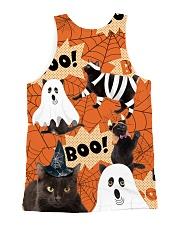 Black Cat Boo  All-over Unisex Tank back