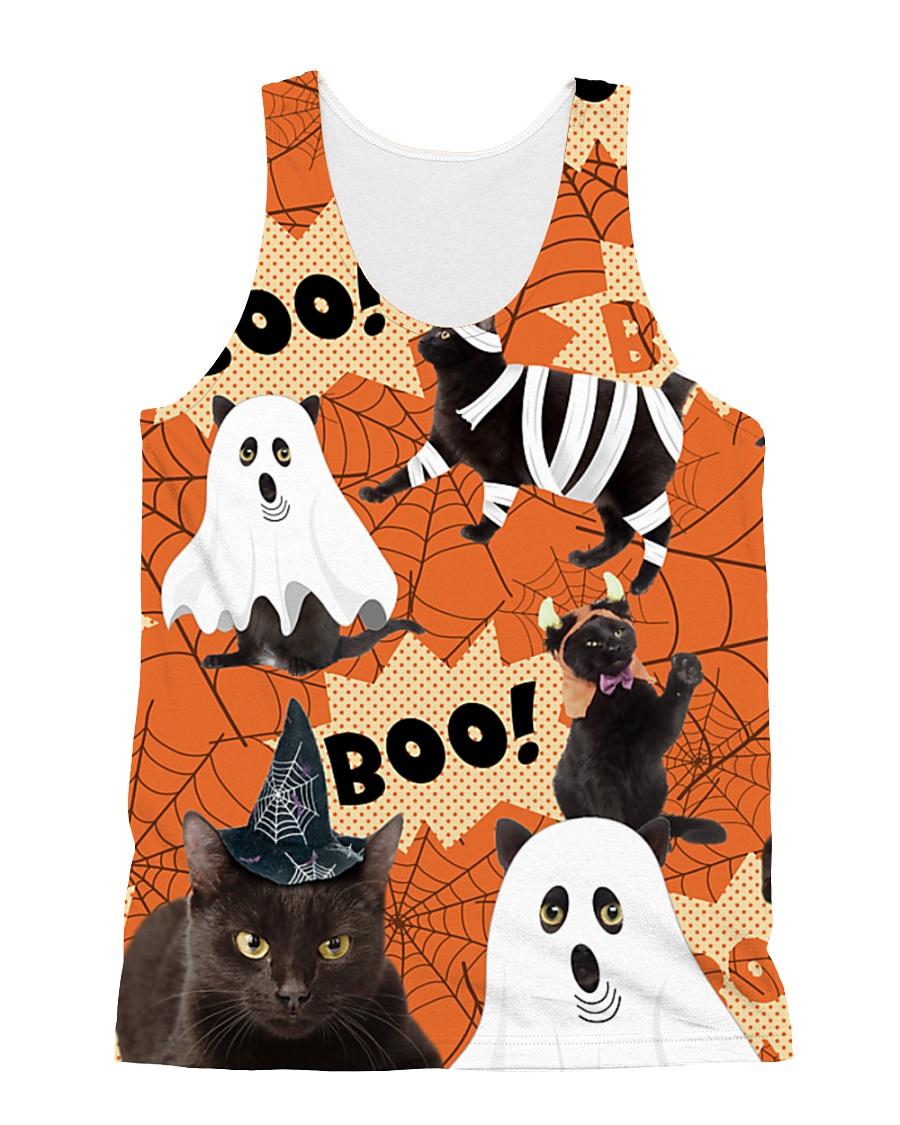 Black Cat Boo  All-over Unisex Tank