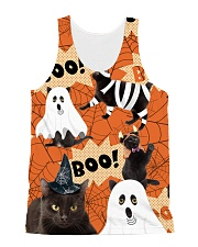 Black Cat Boo  All-over Unisex Tank front