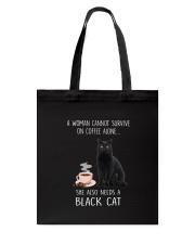 Black Cat and Coffee Tote Bag thumbnail