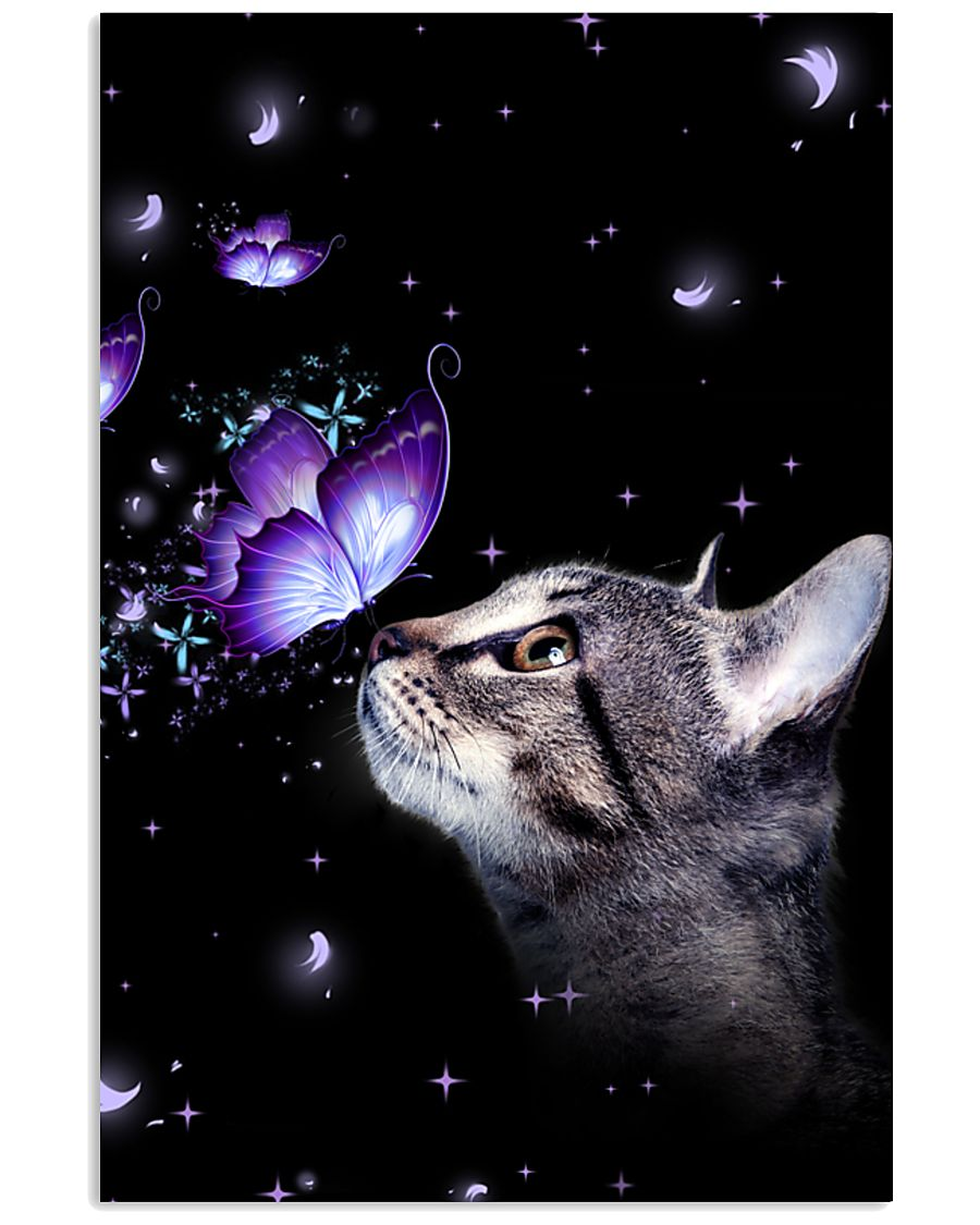 Cat Butterfly 11x17 Poster
