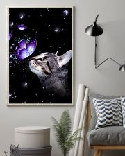 Cat Butterfly 11x17 Poster lifestyle-poster-1