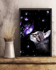 Cat Butterfly 11x17 Poster lifestyle-poster-3