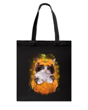 Cute cat Halloween Tote Bag thumbnail