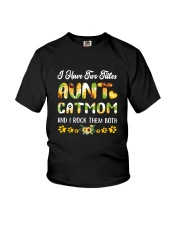 Cat Mom And Aunt Youth T-Shirt thumbnail