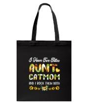 Cat Mom And Aunt Tote Bag thumbnail