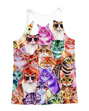 Cat Color  All-over Unisex Tank back