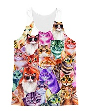 Cat Color  All-over Unisex Tank front