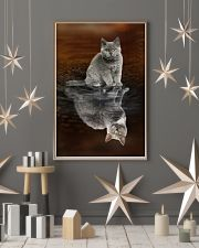 Selkirk Rex Cat Reflection Poster 1112  11x17 Poster lifestyle-holiday-poster-1