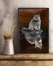 Selkirk Rex Cat Reflection Poster 1112  11x17 Poster lifestyle-poster-3