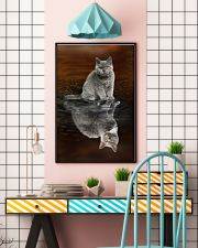 Selkirk Rex Cat Reflection Poster 1112  11x17 Poster lifestyle-poster-6