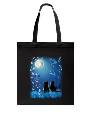 Cat with butterfly at night 2009 Tote Bag thumbnail