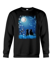 Cat with butterfly at night 2009 Crewneck Sweatshirt thumbnail