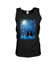Cat with butterfly at night 2009 Unisex Tank thumbnail