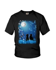 Cat with butterfly at night 2009 Youth T-Shirt thumbnail
