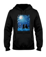 Cat with butterfly at night 2009 Hooded Sweatshirt thumbnail