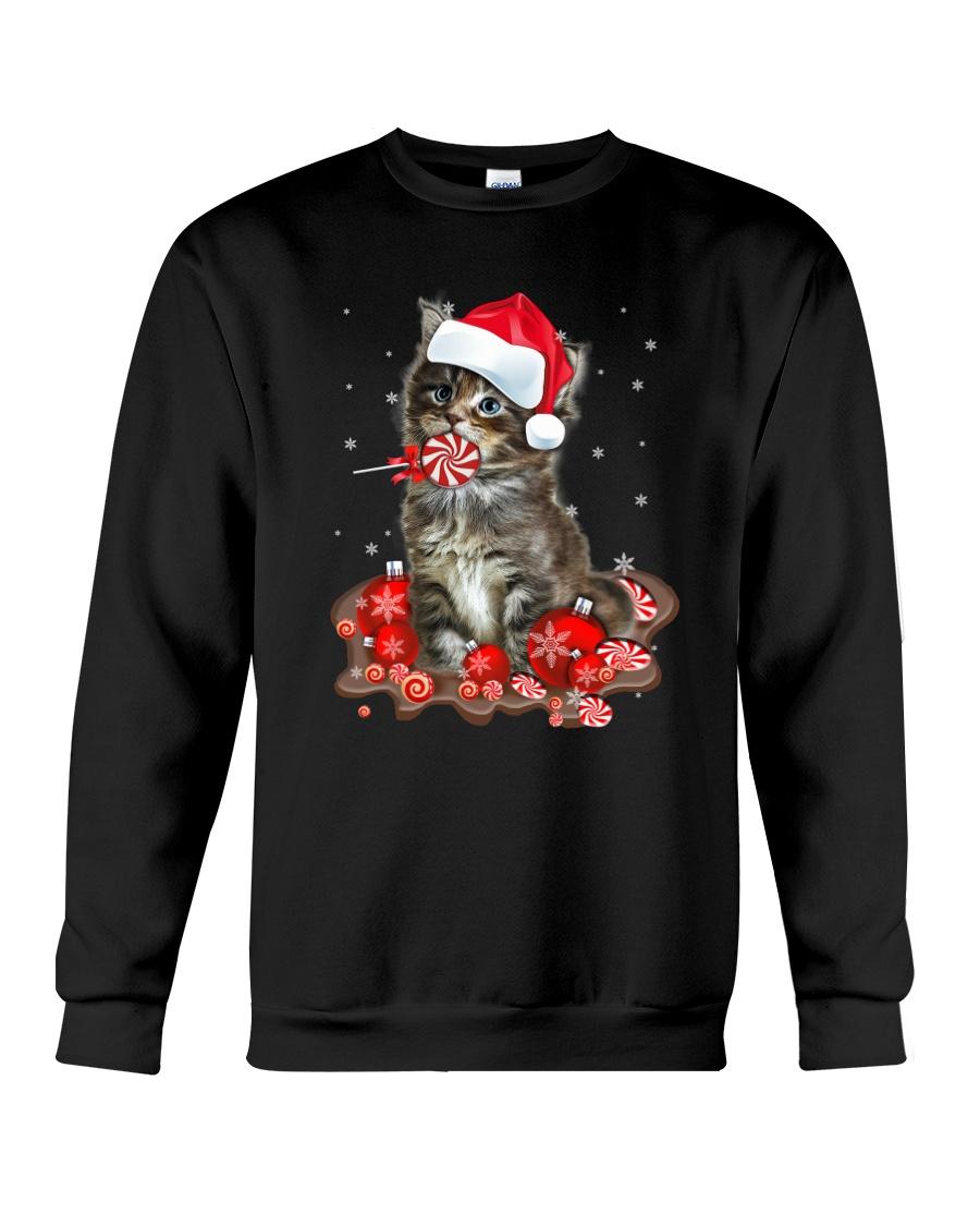 Cat Sweet Candy 1710  Crewneck Sweatshirt