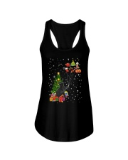 Black cat with gifts 1909 Ladies Flowy Tank thumbnail