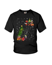 Black cat with gifts 1909 Youth T-Shirt thumbnail