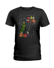 Black cat with gifts 1909 Ladies T-Shirt thumbnail