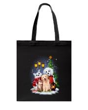 Cat Dog and Snowman Tote Bag thumbnail