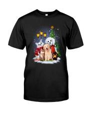Cat Dog and Snowman Classic T-Shirt thumbnail