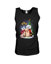 Cat Dog and Snowman Unisex Tank thumbnail