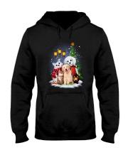 Cat Dog and Snowman Hooded Sweatshirt thumbnail