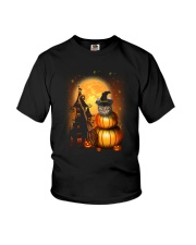 Cat in pumpkin Youth T-Shirt tile