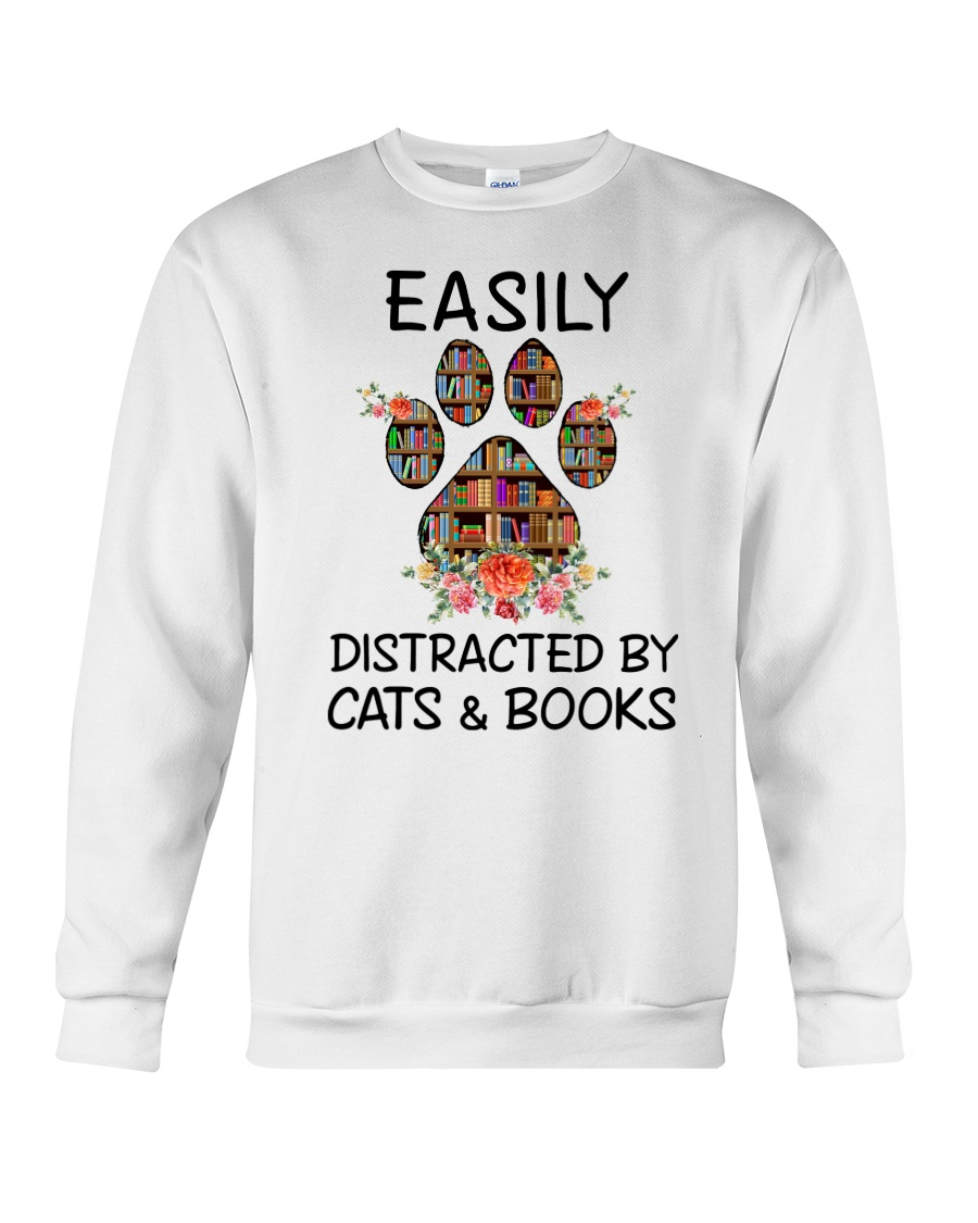 Cats And Books Crewneck Sweatshirt