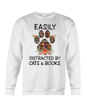 Cats And Books Crewneck Sweatshirt thumbnail