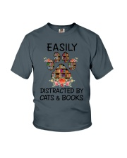 Cats And Books Youth T-Shirt thumbnail