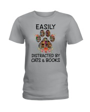 Cats And Books Ladies T-Shirt tile