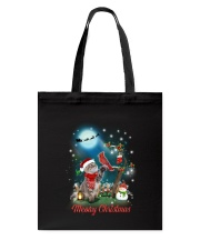 Cat and Cardinal Xmas Tote Bag thumbnail