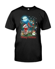 Cat and Cardinal Xmas Classic T-Shirt thumbnail