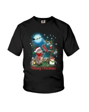 Cat and Cardinal Xmas Youth T-Shirt thumbnail
