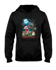 Cat and Cardinal Xmas Hooded Sweatshirt thumbnail