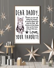 American Shorthair Dear Daddy 1412 11x17 Poster lifestyle-holiday-poster-1