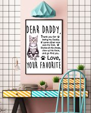 American Shorthair Dear Daddy 1412 11x17 Poster lifestyle-poster-6