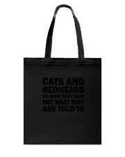 Cat and Redhead 130319 Tote Bag tile