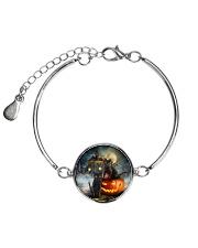 Black Cat Halloween  Metallic Circle Bracelet thumbnail