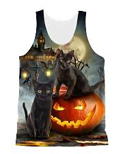 Black Cat Halloween  All-over Unisex Tank front