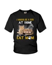 Apollo Cat Mom Family Youth T-Shirt thumbnail