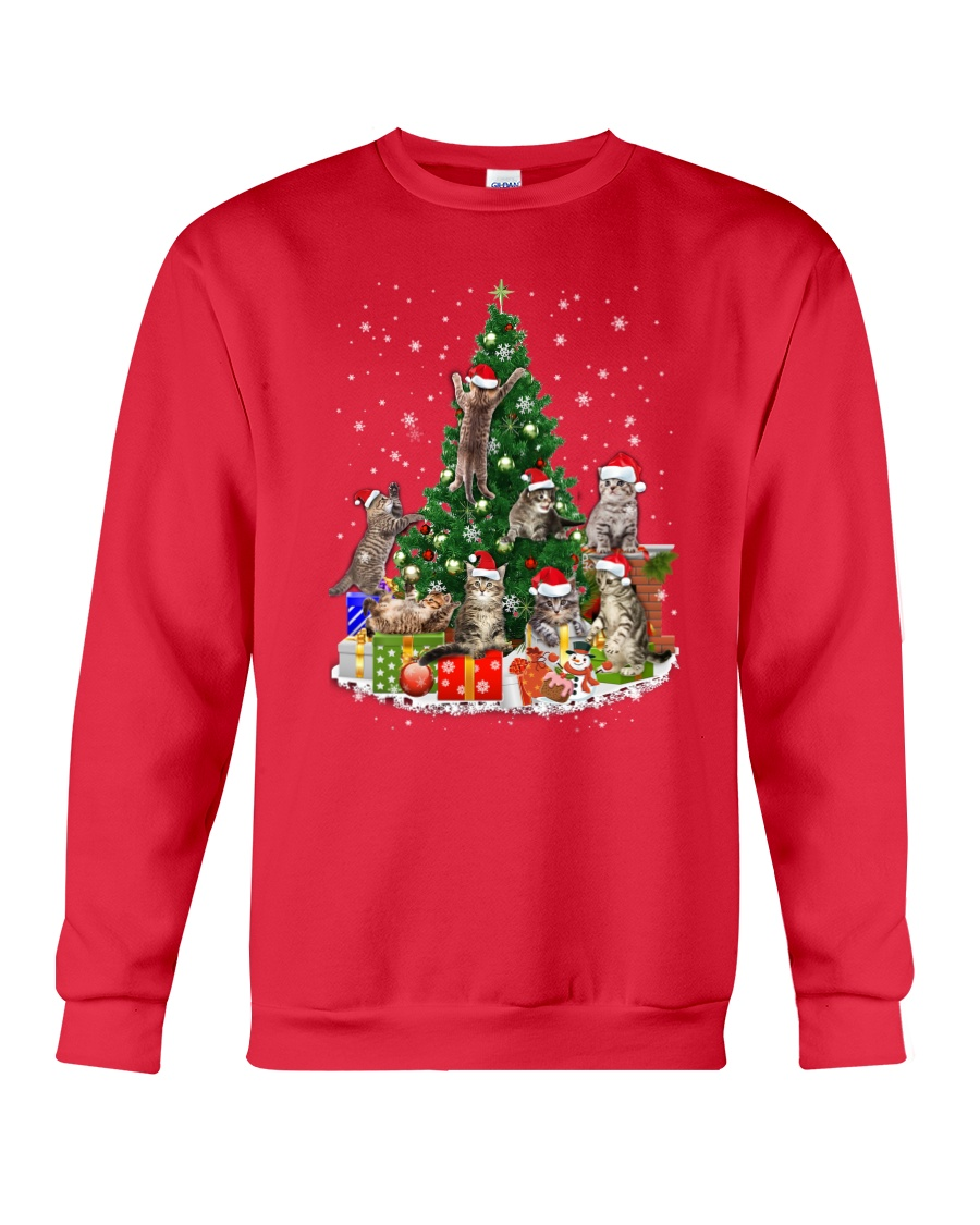 Cat Christmas Tree 2709 Crewneck Sweatshirt