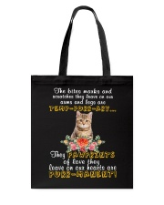 Cat Pawprints Tote Bag thumbnail
