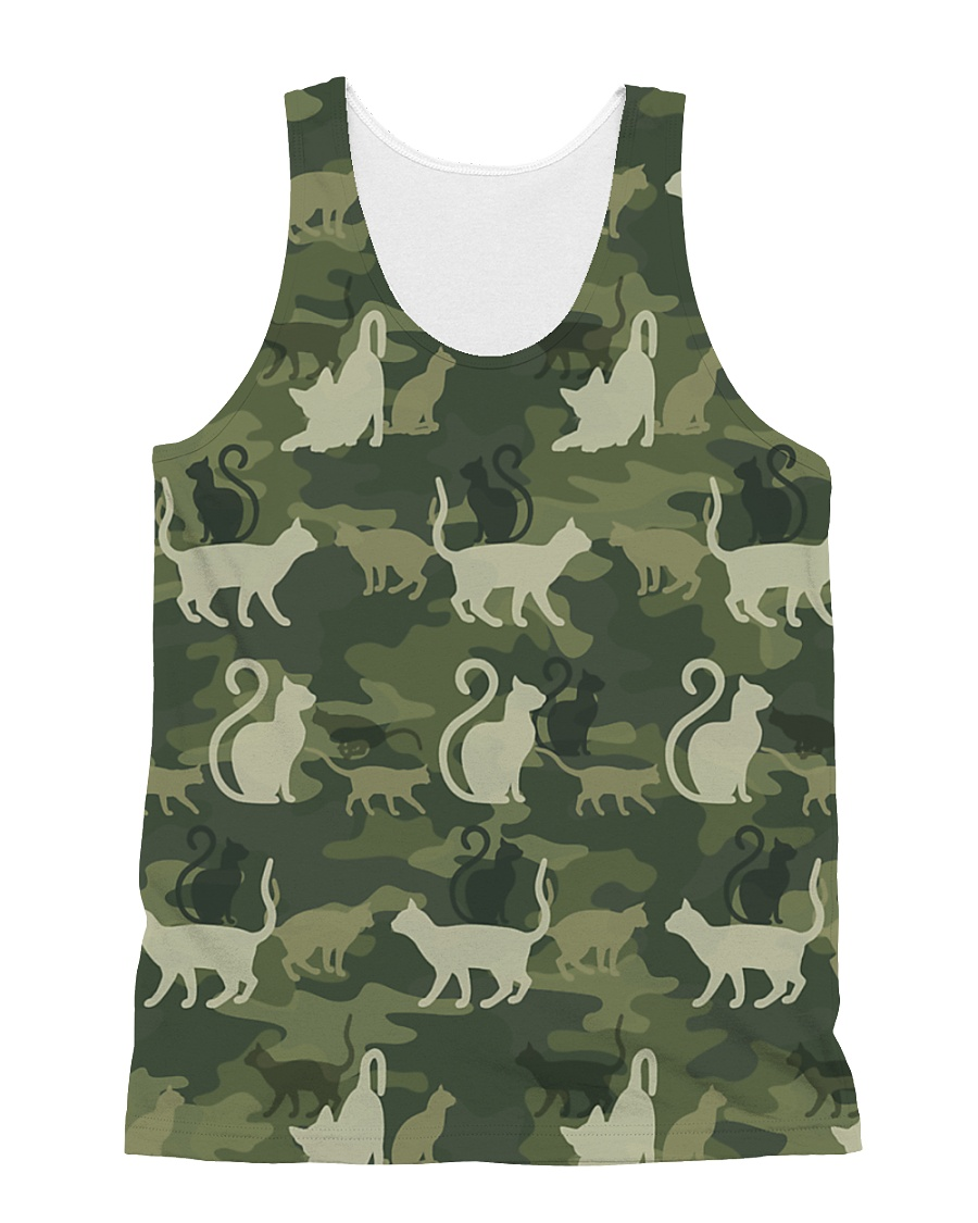 Cat Camo All-over Unisex Tank