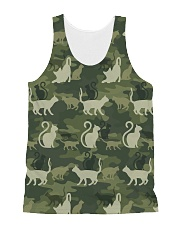Cat Camo All-over Unisex Tank front